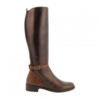 compra online botas altas piel planas