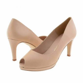zapatos taconazo plataforma color beige
