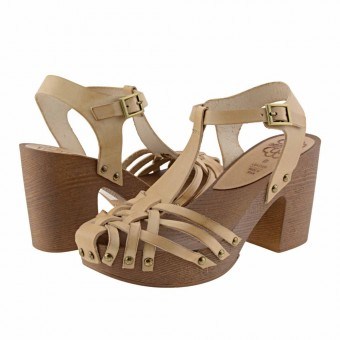 sandalias piel plataforma