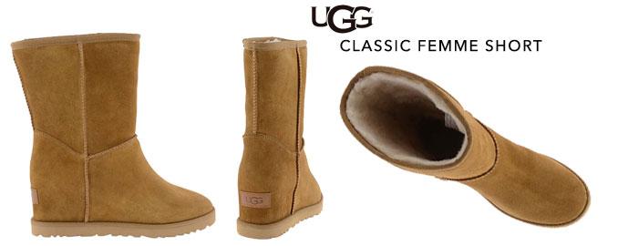 Ugg Classic-short-femme