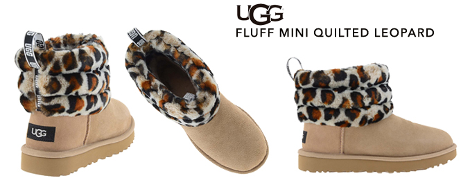 Fluff Mini Quilted leopard botas Ugg