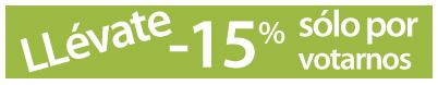 -15 por ciento descuento